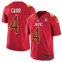 Nike Oakland Raiders #4 Derek Carr Red Men's Stitched NFL Limited AFC 2017 Pro Bowl Jersey