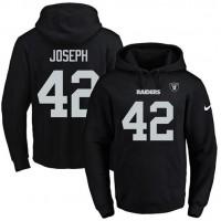Nike Oakland Raiders #42 Karl Joseph Black Name & Number Pullover NFL Hoodie