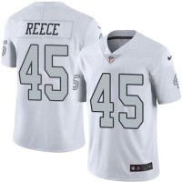Nike Oakland Raiders #45 Marcel Reece White Men's Stitched NFL Limited Rush Jersey