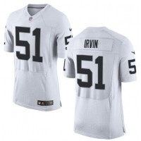 Nike Oakland Raiders #51 Bruce Irvin White Team Color Men's Stitched NFL New Elite Jersey