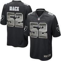 Nike Oakland Raiders #52 Khalil Mack Black Team Color Men's Stitched NFL Limited Strobe Jersey