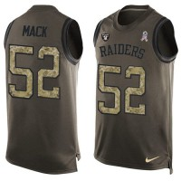 Nike Oakland Raiders #52 Khalil Mack Green Men's Stitched NFL Limited Salute To Service Tank Top Jersey