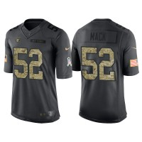 Nike Oakland Raiders #52 Khalil Mack Men's Stitched Anthracite NFL Salute to Service Limited Jerseys
