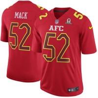 Nike Oakland Raiders #52 Khalil Mack Red Men's Stitched NFL Game AFC 2017 Pro Bowl Jersey