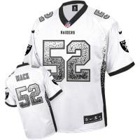 Nike Oakland Raiders #52 Khalil Mack White Men's Stitched NFL Elite Drift Fashion Jersey