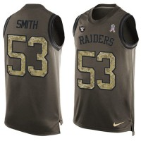 Nike Oakland Raiders #53 Malcolm Smith Green Men's Stitched NFL Limited Salute To Service Tank Top Jersey