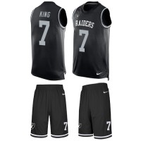 Nike Oakland Raiders #7 Marquette King Black Team Color Men's Stitched NFL Limited Tank Top Suit Jersey