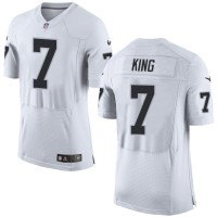 Nike Oakland Raiders #7 Marquette King White Men's Stitched NFL New Elite Jersey