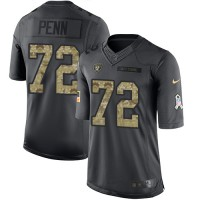 Nike Oakland Raiders #72 Donald Penn Black Men's Stitched NFL Limited 2016 Salute To Service Jersey