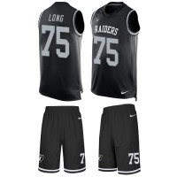Nike Oakland Raiders #75 Howie Long Black Team Color Men's Stitched NFL Limited Tank Top Suit Jersey