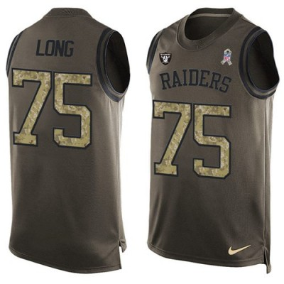 Nike Oakland Raiders #75 Howie Long Green Men's Stitched NFL Limited Salute To Service Tank Top Jersey