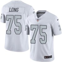 Nike Oakland Raiders #75 Howie Long White Men's Stitched NFL Limited Rush Jersey