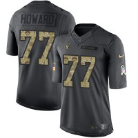 Nike Oakland Raiders #77 Austin Howard Anthracite Men's Stitched NFL Limited 2016 Salute To Service Jersey