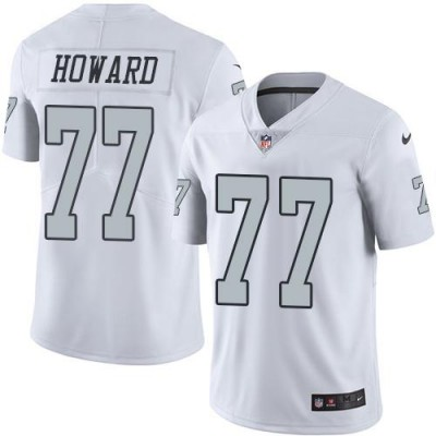 Nike Oakland Raiders #77 Austin Howard White Men's Stitched NFL Limited Rush Jersey