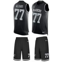 Nike Oakland Raiders #77 Lyle Alzado Black Team Color Men's Stitched NFL Limited Tank Top Suit Jersey