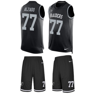 Nike Oakland Raiders #77 Lyle Alzado Black Team Color Men's Stitched NFL Limited Tank Top Suit Jersey