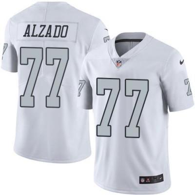 Nike Oakland Raiders #77 Lyle Alzado White Men's Stitched NFL Limited Rush Jersey