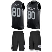 Nike Oakland Raiders #80 Jerry Rice Black Team Color Men's Stitched NFL Limited Tank Top Suit Jersey