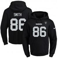 Nike Oakland Raiders #86 Lee Smith Black Name & Number Pullover NFL Hoodie