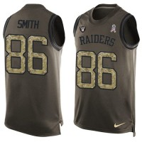 Nike Oakland Raiders #86 Lee Smith Green Men's Stitched NFL Limited Salute To Service Tank Top Jersey