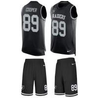 Nike Oakland Raiders #89 Amari Cooper Black Team Color Men's Stitched NFL Limited Tank Top Suit Jersey