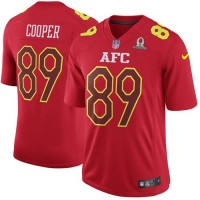 Nike Oakland Raiders #89 Amari Cooper Red Men's Stitched NFL Game AFC 2017 Pro Bowl Jersey