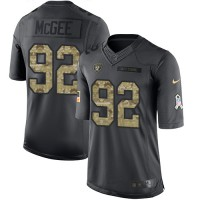 Nike Oakland Raiders #92 Stacy McGee Anthracite Men's Stitched NFL Limited 2016 Salute To Service Jersey