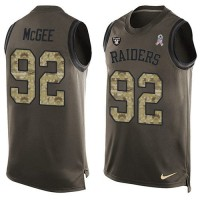 Nike Oakland Raiders #92 Stacy McGee Green Men's Stitched NFL Limited Salute To Service Tank Top Jersey