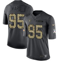 Nike Oakland Raiders #95 Jihad Ward Anthracite Men's Stitched NFL Limited 2016 Salute To Service Jersey