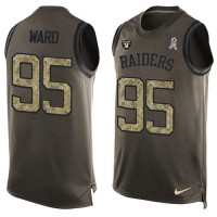 Nike Oakland Raiders #95 Jihad Ward Green Men's Stitched NFL Limited Salute To Service Tank Top Jersey