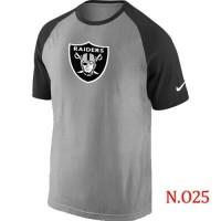 Nike Oakland Raiders Ash Tri Big Play Raglan NFL T-Shirt GreyBlack