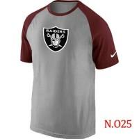 Nike Oakland Raiders Ash Tri Big Play Raglan NFL T-Shirt GreyRed