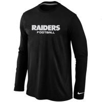 Nike Oakland Raiders Authentic Font Long Sleeve T-Shirt Black