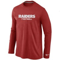 Nike Oakland Raiders Authentic Font Long Sleeve T-Shirt Red