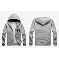 Nike Oakland Raiders Authentic Logo Hoodie Grey