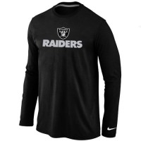 Nike Oakland Raiders Authentic Logo Long Sleeve T-Shirt Black