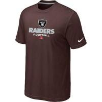 Nike Oakland Raiders Big & Tall Critical Victory NFL T-Shirt Brown