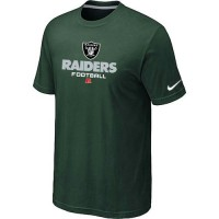 Nike Oakland Raiders Big & Tall Critical Victory NFL T-Shirt Dark Green