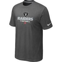 Nike Oakland Raiders Big & Tall Critical Victory NFL T-Shirt Dark Grey