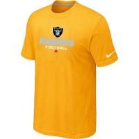 Nike Oakland Raiders Big & Tall Critical Victory NFL T-Shirt Yellow