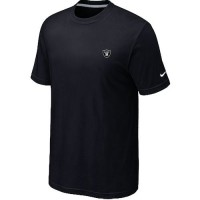 Nike Oakland Raiders Chest Embroidered Logo T-Shirt Black