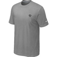 Nike Oakland Raiders Chest Embroidered Logo T-Shirt Grey