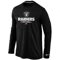 Nike Oakland Raiders Critical Victory Long Sleeve T-Shirt Black