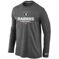Nike Oakland Raiders Critical Victory Long Sleeve T-Shirt Dark Grey