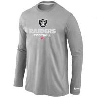 Nike Oakland Raiders Critical Victory Long Sleeve T-Shirt Grey