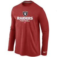 Nike Oakland Raiders Critical Victory Long Sleeve T-Shirt Red