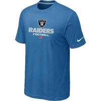 Nike Oakland Raiders Critical Victory NFL T-Shirt Light Blue