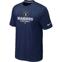 Nike Oakland Raiders Critical Victory NFL T-Shirt Midnight Blue