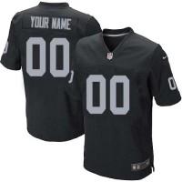 Nike Oakland Raiders Customized Black Stitched Elite Men's NFL Jersey