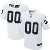 Nike Oakland Raiders Customized White Stitched Elite Men's NFL Jersey